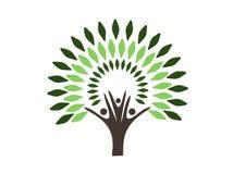 Logotipo da árvore genealógica Fotografia de Stock