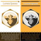 Logotipo da abelha em insetos Fotografia de Stock