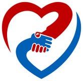 Logotipo da agitação da mão Fotografia de Stock Royalty Free