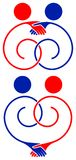 Logotipo da amizade Fotos de Stock Royalty Free