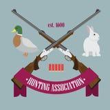Logotipo da associação da caça Fotografia de Stock