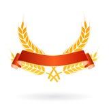 Logotipo da bandeira do alimento do trigo Fotografia de Stock Royalty Free