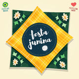 Logotipo da bandeira do partido de junho do brasileiro Imagem de Stock Royalty Free