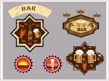 Logotipo da barra da cerveja Fotografia de Stock Royalty Free