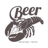 Logotipo da barra da lagosta ilustração do vetor