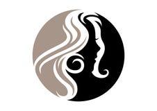 Logotipo da beleza da mulher Fotografia de Stock Royalty Free