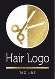Logotipo da beleza em dourado Fotos de Stock Royalty Free