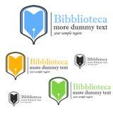 Logotipo da biblioteca Imagem de Stock