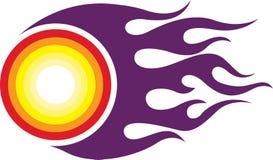 Logotipo da bola de fogo ilustração royalty free