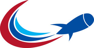 Logotipo da bomba de Newclear Imagens de Stock Royalty Free