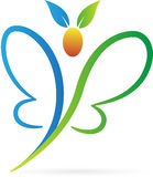 Logotipo da borboleta Imagem de Stock Royalty Free