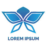 Logotipo da borboleta Imagens de Stock