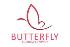 Logotipo da borboleta Imagem de Stock