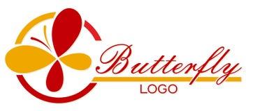 Logotipo da borboleta Imagens de Stock Royalty Free
