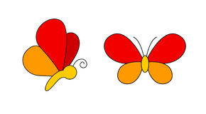 Logotipo da borboleta Foto de Stock