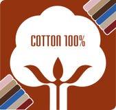 Logotipo da cápsula do algodão Imagens de Stock Royalty Free