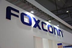 Logotipo da cabine de Foxconn Fotografia de Stock