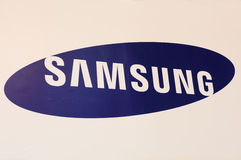 Logotipo da cabine de Samsung Imagens de Stock
