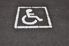 Logotipo da cadeira de roda Foto de Stock Royalty Free