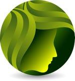 Logotipo da cara da folha ilustração do vetor