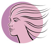 Logotipo da cara da mulher Foto de Stock Royalty Free