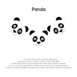 Logotipo da cara da panda - molde do projeto Foto de Stock