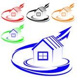 Logotipo da casa Fotos de Stock