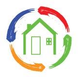 Logotipo da casa Imagens de Stock Royalty Free