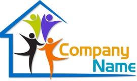 Logotipo da casa da família Imagem de Stock Royalty Free
