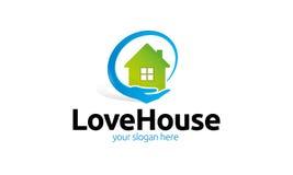 Logotipo da casa do amor ilustração stock