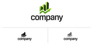 Logotipo da casa dos bens imobiliários Fotos de Stock