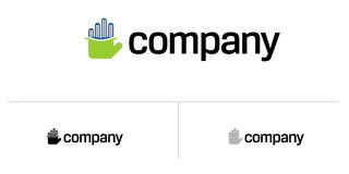 Logotipo da casa dos bens imobiliários Imagens de Stock Royalty Free