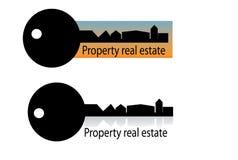 Logotipo da casa dos bens imobiliários Foto de Stock Royalty Free