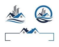 Logotipo da casa e da construção Imagens de Stock