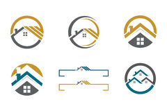 Logotipo da casa e da construção Foto de Stock