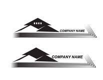 Logotipo da casa Real Estate muito detalhado e expressivo Fotografia de Stock Royalty Free