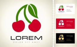 Logotipo da cereja ilustração stock