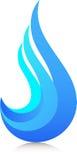 Logotipo da chama ilustração royalty free