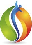 Logotipo da chama dos povos ilustração stock