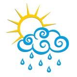 Logotipo da chuva Fotografia de Stock
