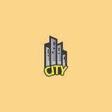 Logotipo da cidade Foto de Stock