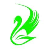 Logotipo da cisne Foto de Stock