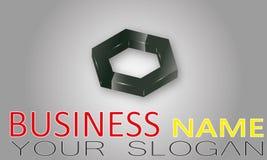 Logotipo da companhia Fotografia de Stock Royalty Free