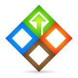 Logotipo da companhia Imagens de Stock Royalty Free