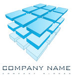 logotipo da companhia 3D Fotos de Stock