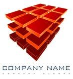 logotipo da companhia 3D Imagens de Stock