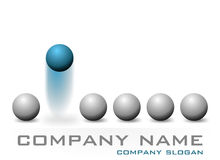Logotipo da companhia Imagem de Stock