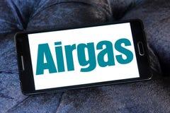 Logotipo da companhia do gás de Airgas Foto de Stock