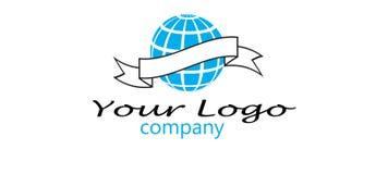 Logotipo da companhia do globo Imagem de Stock