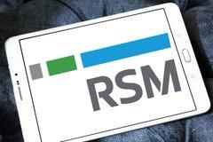 Logotipo da companhia estado-unidense de RSM Imagens de Stock